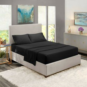Black Egyptian Comfort Bed Sheets 4 Piece! Sale!
